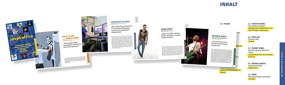 """Buchdesign: 304 Seiten """"My Inspiration"""""""